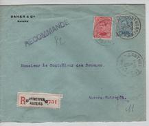 TP 138(2)-141 S.L.recommandée Avec En-Tête Daher & Cie Anvers C.Antwerpen 5/3/1919 V.E/V PR4556 - Postmark Collection