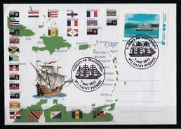 France : Timbre Personnalisé : Enveloppe FDC De Saint-Pierre En Martinique