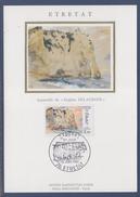 Les Falaises D'Etretat Carte Postale 1er Jour 76 Etretat 12.6.87 N°2463 Vue D'après E. Delacroix - 1980-89
