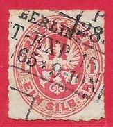 Prusse N°17 1s Rose 1861-65 (BERLIN 1865) O - Prusse
