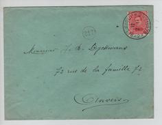 TP 138 S/L.c.Passe Partout Belgique-België 2  2/1/1919 V.Anvers C.d'arrivée PR4557 - Postmark Collection