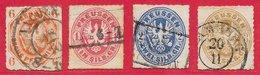 Prusse N°16 à 20 (sauf 18) 1861-65 O - Prusse