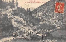 CPA 09 AX LES THERMES PETIT COIN A L ENTREE DES GORGES DE LA FRAU 1912 - Ax Les Thermes