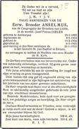 Bidprent Dielen Jozef-Petrus (Antwerpen 1885 - Zelzate 1953): Broeder Anselmus - Broeders Van Liefde  - Sint Jan Baptist - Images Religieuses