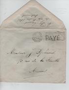Lettre En Port Payé Griffe écrite De Watermael C.méc.BXL Arrivée 27/11/1918 V.Anvers PR4559 - Postmark Collection