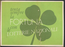 °°° CARTOLINA LOTTERIA 1980 - AFFRANCATURA CON FRANCOBOLLO TUBERCOLOSI °°° - Biglietti Della Lotteria