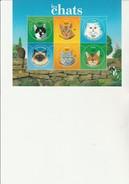 NOUVELLE- CALEDONIE - BLOC FEUILLET TIMBRES N° 923 A 928  NEUF XX  ANNEE 2004  - THEMATIQUE CHATS - Blocks & Kleinbögen