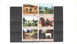 Angola 2000 Blocco Cani N.06 Valori Timbrati See Scans - Angola