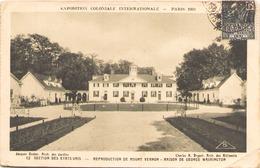 EXPOSITION COLONIALE INTERNATIONALE PARIS 1931 LA SECTION DES ETATS UNIS MAISON DE GEORGE WASHINGTON - Exhibitions