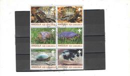 Angola 2000 Blocco Tartarughe N.06 Valori Timbrati See Scans - Angola
