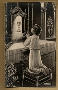Image Pieuse Holy Card Communion Rennes 9-05-1944 Basilique Saint Pol De Léon - Ed M.G. 21690 - Contre Les Bombardements - Images Religieuses