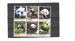 Angola 2000 Blocco Pandas N.06 Valori Timbrati See Scans - Angola
