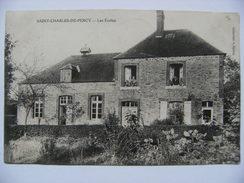 CPA 14 Saint-Charles-de-Percy Canton De Vassy - Les Ecoles - Vue D'ensemble Avec Animation   A Voir ! - France