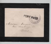 Lettre De Deuil De Fortune Griffe Port Payé écrite De St.Josse C.Bruxelles 23/11/1918 PR4563 - Postmark Collection