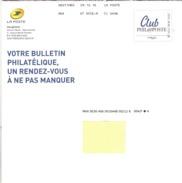 """Lettre De Philaposte    Avec Un Facsimilé  Imprimé   """"  Club  Phil@poste  """"    Daté  Du  29 - 12 - 2016 - PAP : Altri (1995-...)"""