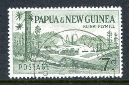 Papua New Guinea 1958-60 New Definitives - 7d Klinki Plymill Used - Papua New Guinea