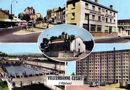 69  VILLEURBANNE CUSSET Cours Emile Zola Groupe Scolair Eglise  St Julien De Cusset Piscine Parc De La Rize - Villeurbanne