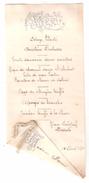 MENU , Du 10 Avril 1893 Sur Carte  Lettres Relief Argent Et Ruban , Madame  BAROIS  ,TB - Menus