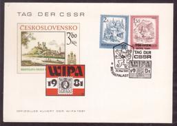 KN143     WIPA 1981 Tag Der CSSR , Wien1981, Special Postmark - Marcofilie - EMA (Print Machine)