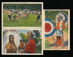 6 KAARTEN CHEROKEE - 2 SCANS - Indiens De L'Amerique Du Nord