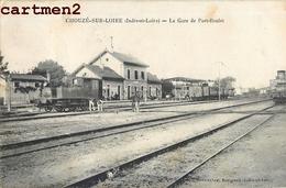 CHOUZE SUR LOIRE GARE DE PORT BOULET CHEMIN DE FER TRAIN LOCOMOTIVE 37 - France
