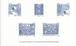 France - Phil@poste 2013 - Feuillet Gommé - La Taille Douce Au Salon D'Automne 2013 - Documenten Van De Post