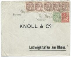BLANC ET MOUCHON PARIS POUR LUDWIGSHAFEN AM RHEIN ALLEMAGNE / 1901 - Postmark Collection (Covers)