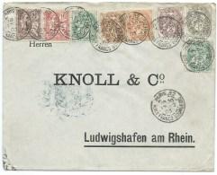 BLANC ET MOUCHON PARIS POUR LUDWIGSHAFEN AM RHEIN ALLEMAGNE / 1903 - Postmark Collection (Covers)