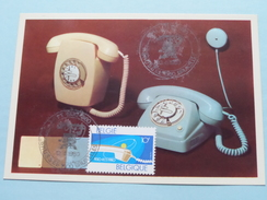 REGIE Van TELEGRAFIE En TELEFONIE / Anno 12-4-1980 Brussel Stamp ( Zie Foto´s Voor Detail ) ! - Poste & Facteurs
