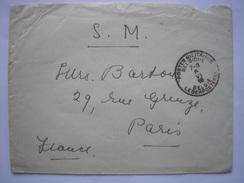Enveloppe De 1916 Pour Paris Avec Cachet Postes Militaires De Belgique - Peu Commun - Postmark Collection
