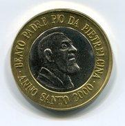 PADRE PIO YEAR 2000 1 EURO TEST TRIAL ESSAI PROBE - SUPER RARE - UNC - BEATO PADRE PIO DA PIETRELCINA - Altri
