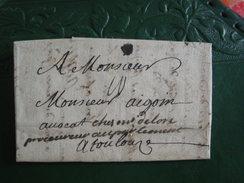 Drôme / Lac De St Roman Pour Toulouse, Taxée ,1741.Pays De Diois - - 1701-1800: Precursori XVIII