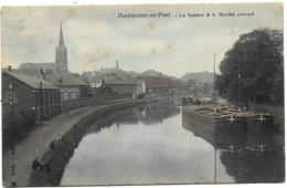 Marchienne-au-Pont NA18: La Sambre & Le Marché Couvert 1909 ( Péniches ) - Charleroi