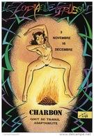 """Illustrateur Charles Berg """" Le Zodiaque Etrusque""""  CHARBON   FEMME NUE - Dessins"""