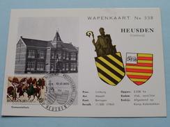 WAPENKAART N° 338 Gemeentehuis - Anno 12-12-1970 Postzegelkring ( Zie Foto´s Voor Detail ) ! - Heusden-Zolder