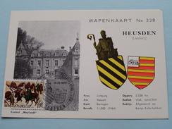 """WAPENKAART N° 338 Kasteel """" MEYLANDT """" - Anno 12-12-1970 Postzegelkring ( Zie Foto´s Voor Detail ) ! - Heusden-Zolder"""