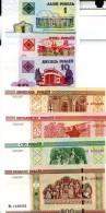 BELARUS Set Of 7 Different **UNC** Banknotes - Billets