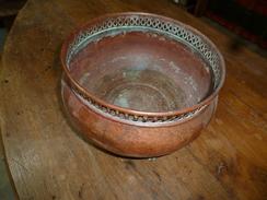 Cache-pot En Cuivre Massif ,d'époque XVIIIe - Rame