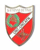 Pin's UNC/UNCAFN De St Etienne De Tinee  (06) - Blason - Casque Et Croix  - Pin's Top - G359 - Armee