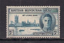 British Honduras 1946 KGV1 5ct Blue Victory MM SG 163 ( A957 ) - British Honduras (...-1970)
