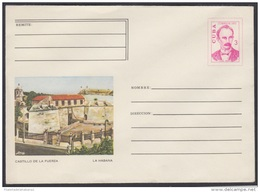 1973-EP-3 CUBA 1973. Ed.171a. ENTERO POSTAL. POSTAL STATIONERY. JOSE MARTI. LA HABANA. CASTILLO DE LA FUERZA. UNUSED. - Cuba