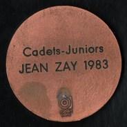 """Sports > Pétanque  Médaille Cadets Juniors 1983 """" Jean Zay """" - Bowls - Pétanque"""