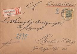 DR Orts-R-Brief EF Minr.73 Pankow 22.3.04 Gel. Nach Berlin - Briefe U. Dokumente