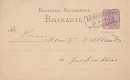 DR Ganzsache R2 Liebenwerda 11.9. - Briefe U. Dokumente