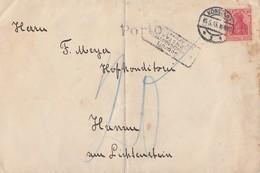 DR Brief EF Minr.86II Konstanz 15.5.18 Zensur, Portostempel - Briefe U. Dokumente