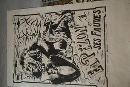 87 - LIMOGES -RARE AFFICHE COHADON LIMOGES-   CIRQUE EDMOND PEZON ET SES FAUVES- MENAGERIE DISPARUE EN 1941- 48-RIMEIZE - Posters