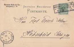 DR Firmenkarte EF Minr.56 R3 Königsberg Bahnpost Nr.11 5.3.96 - Briefe U. Dokumente