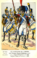AF 251 / C P A  -LES INIFORMES DU 1er EMPIRE -LES TROUPES FRANCO-ITALIENNES LEGION PIEMONTAISE TAMBOUR MAITRE - Uniformi