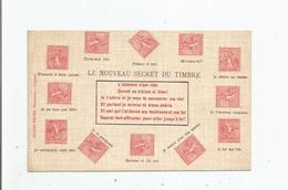 LE NOUVEAU SECRET DU TIMBRE (SEMEUSES) - Timbres (représentations)