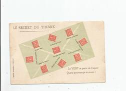 LE SECRET DU TIMBRE LE VERT (SEMEUSES) - Timbres (représentations)